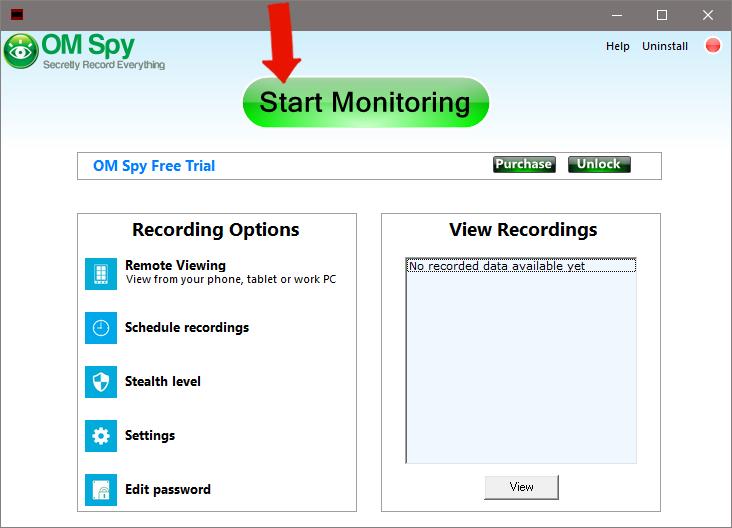 Windows Spy Software - Step 1