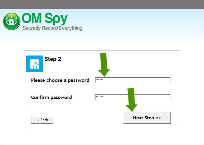Set-up Spy Software - Step 2