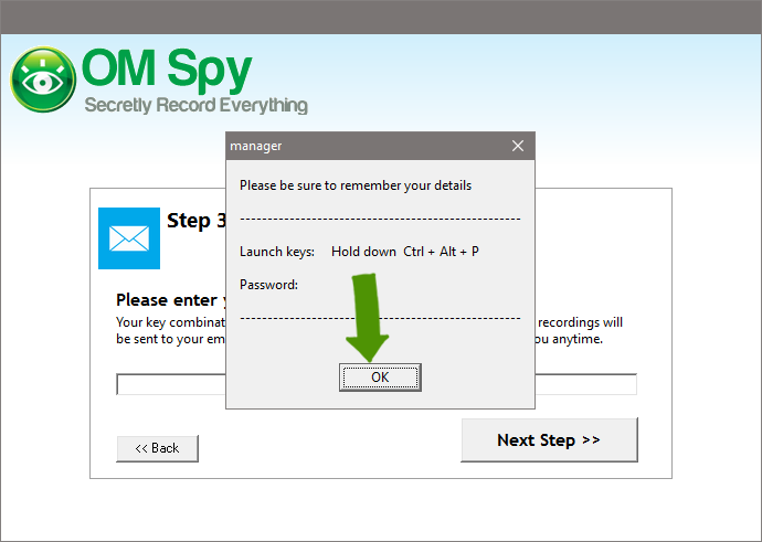 Set-up Spy Software - Step 4