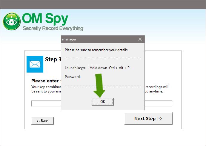 Set-up Spy Software - Step 4